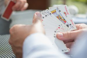 playing poker at cozino